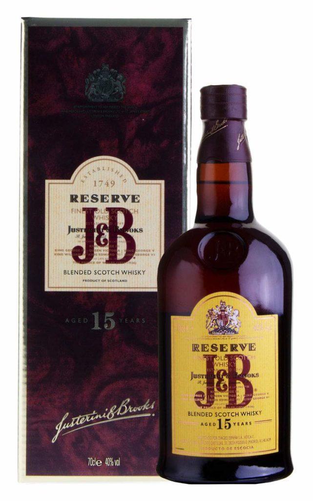 J & B Blended Scotch Whisky 15 Jahre